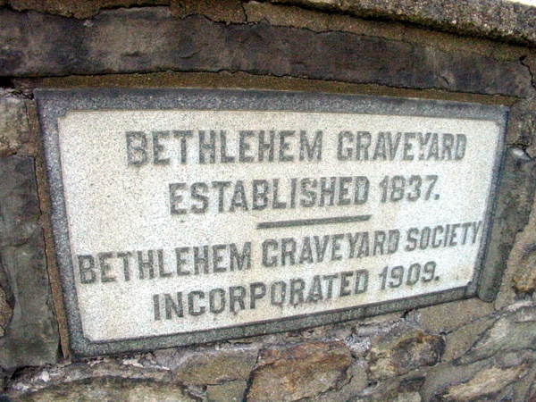 Bethlehem Graveyard | Western New Jersey near the PA border