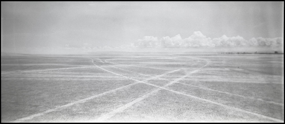 Tire Tracks on the Bonneville Salt Flats | Utah