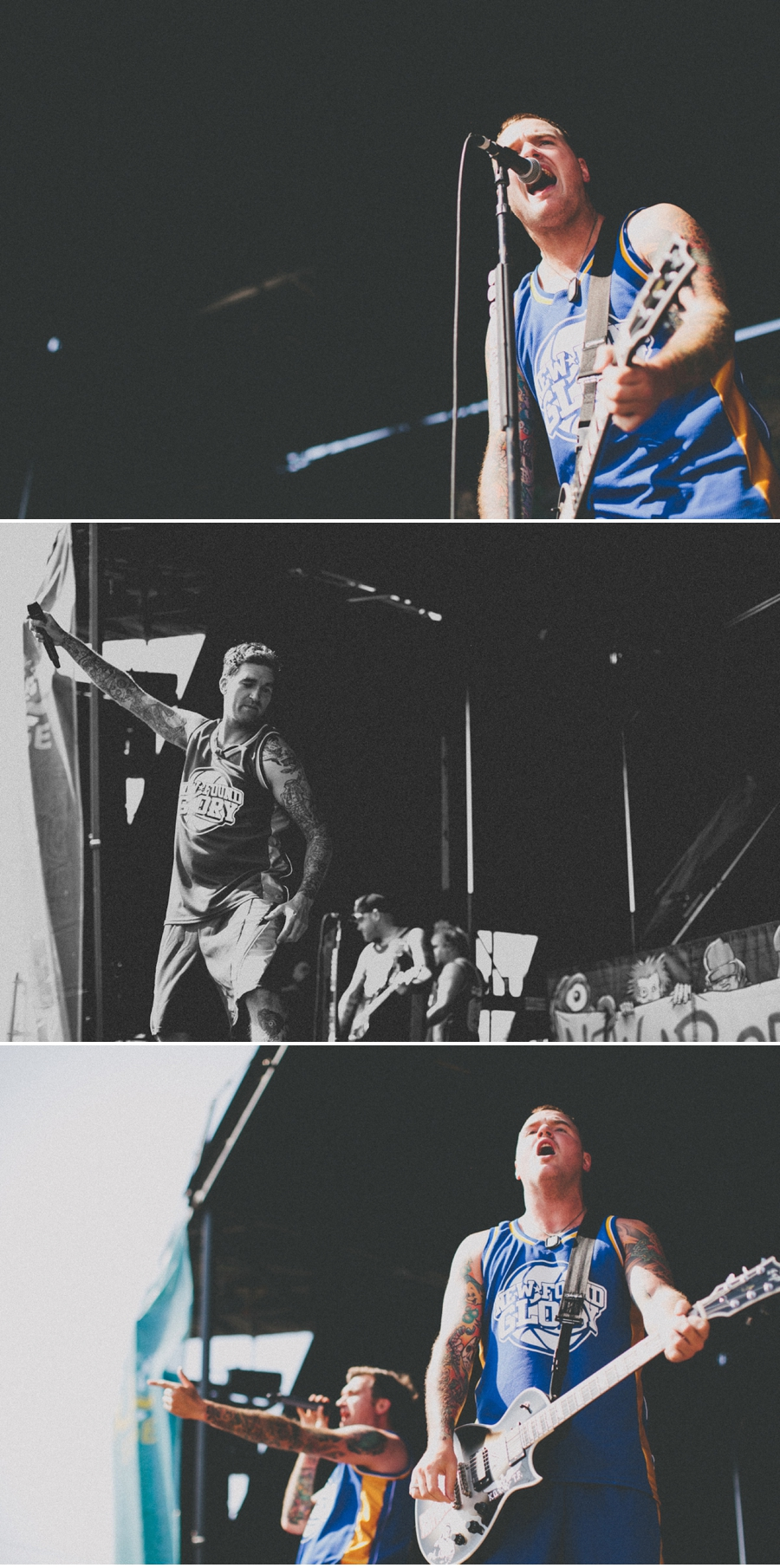 Florida pop-punk band New Found Glory performs on Vans Warped Tour 2012 in Dallas, Texas.