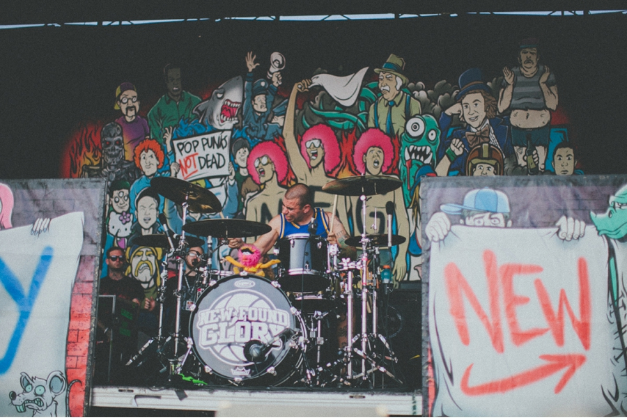 Cyrus Balooki of Florida pop-punk band New Found Glory performs on Vans Warped Tour 2012 in Dallas, Texas.