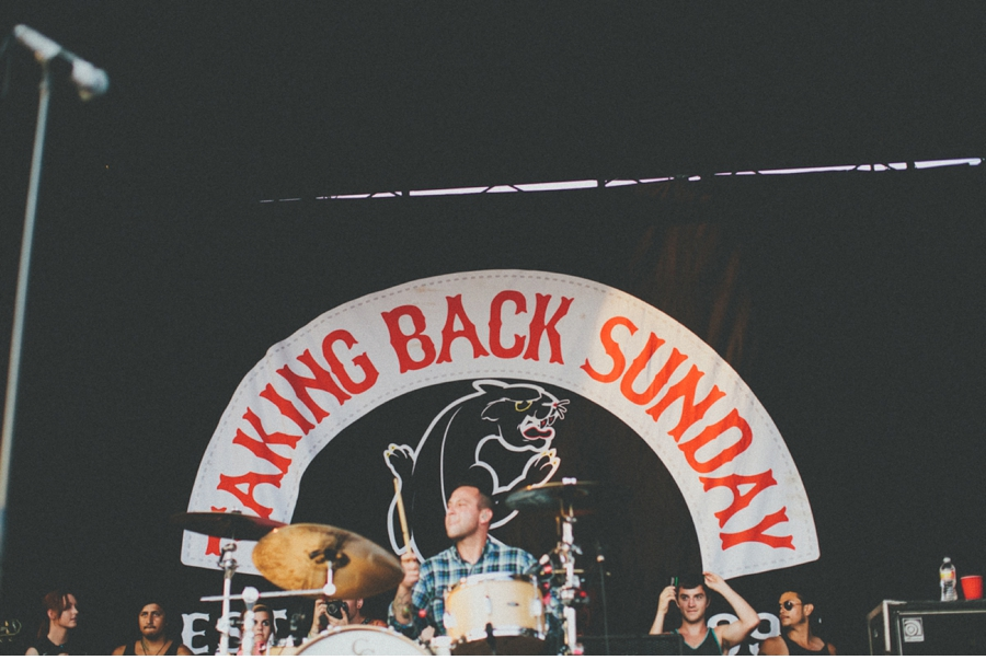 Taking Back Sunday takes the stage at Vans Warped Tour 2012 in Dallas, Texas.
