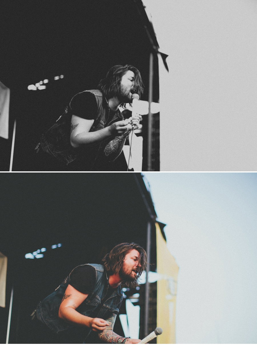John Nolan and Shaun Cooper of Taking Back Sunday perform at Vans Warped Tour 2012 in Dallas, Texas.