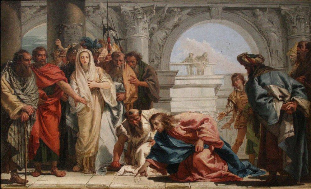 Tiepolo, Le Christ et la Femme Adultère,  c.  1750-53.
