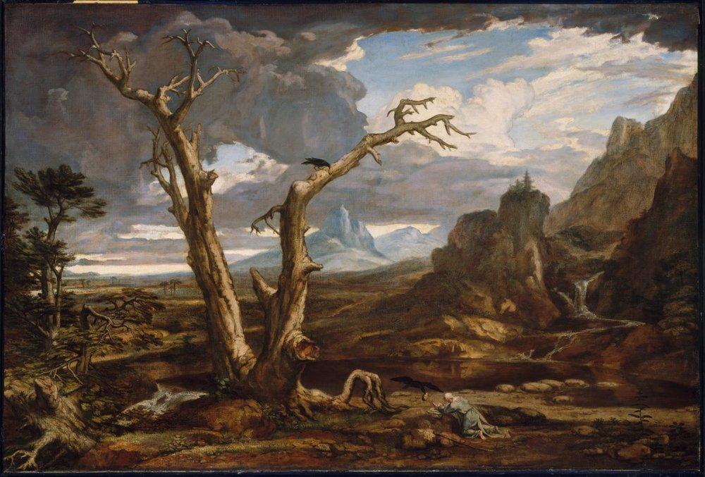 Washington Allston,  Elijah in the Desert , 1818.