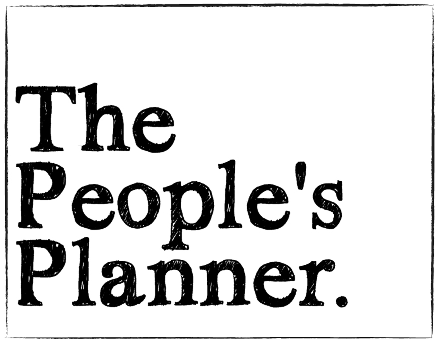 The People's Planner