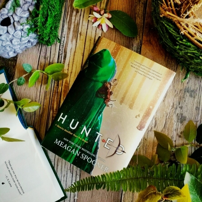 Hunted by Meagan Spooner, image taken by Book Swoon