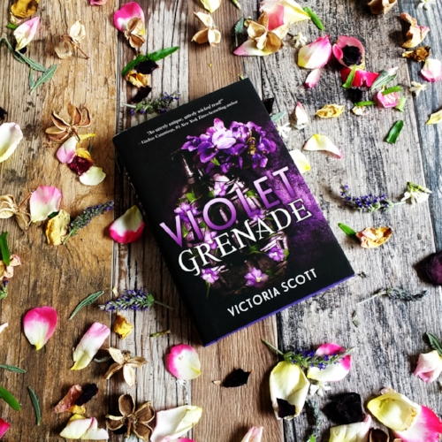 Violet Grenade by Victoria Scott, image taken by Book Swoon.