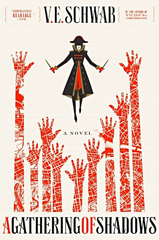A Gathering of Shadows by V. E. Schwab Book Cover