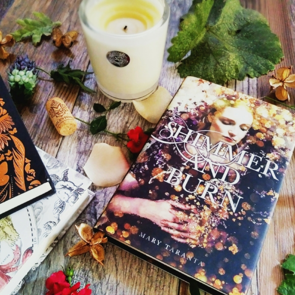 Shimmer and Burn by Mary Taranta image taken by Book Swoon