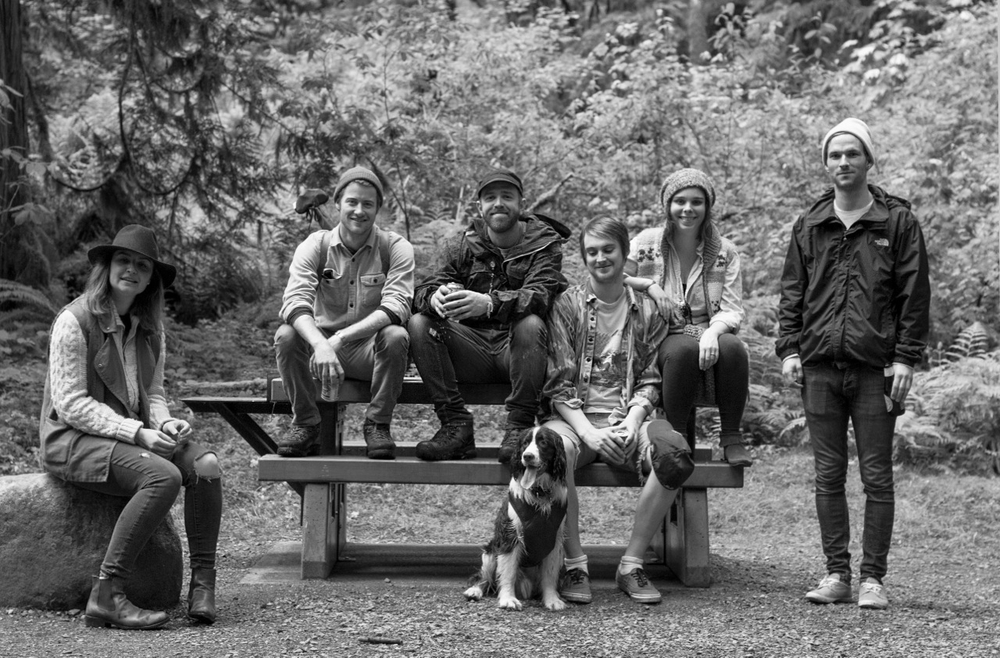 From the left: Sarah, Jon, Ben, Trout (the pup), Matt, Dani + Tyler. I couldn't ask for sweeter, more fun friends to spend a weekend by a lake with.