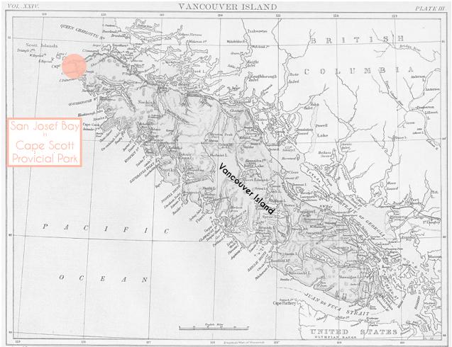 Vancouver Island San Josef Bay Map