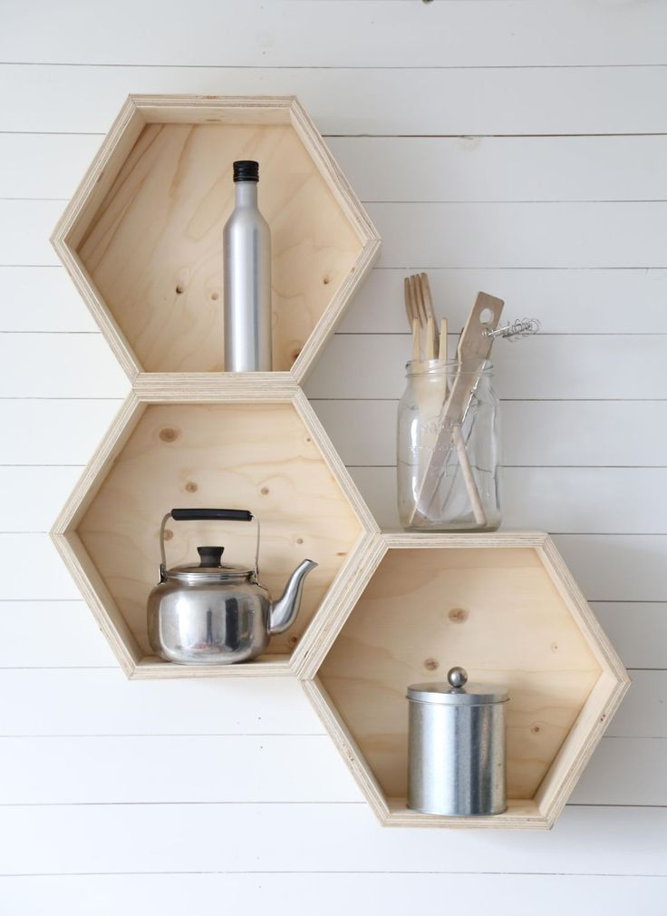 Plywood Hexagon Shelves | Luona Shop