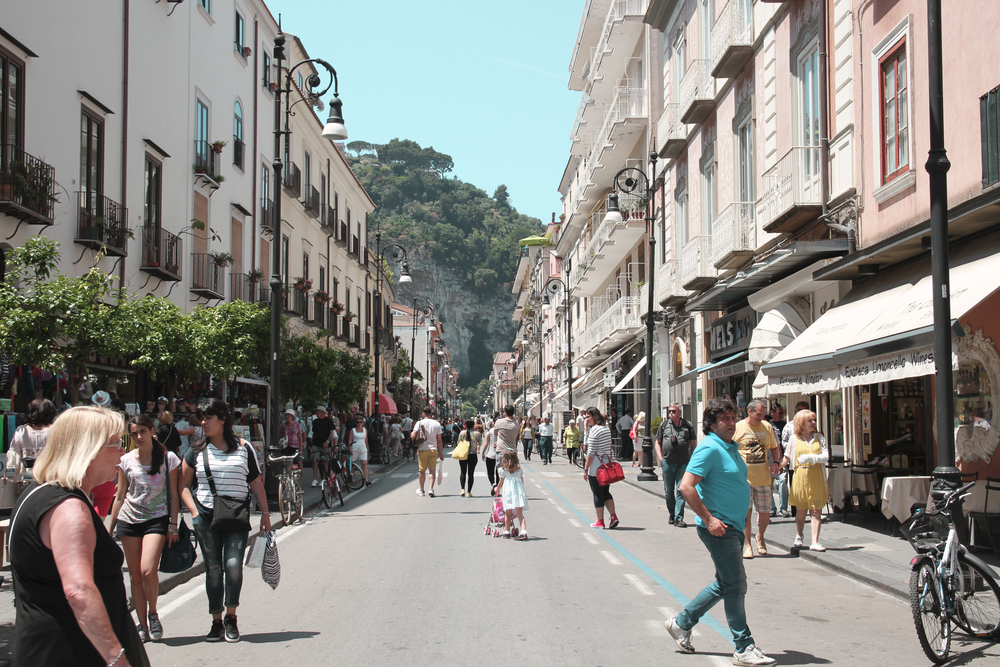 The main streets of Sorrento. It's pretty jam packed and expensive, but was a fun walk to do.