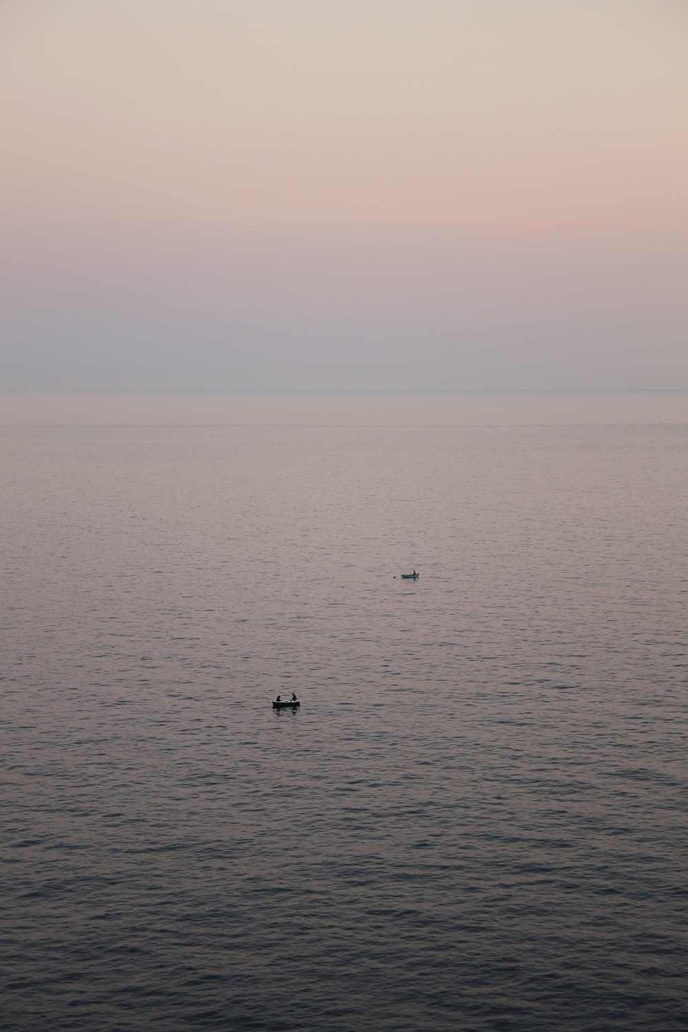 Evening views from our place - fishermen making catching fresh fish for the restaurants.