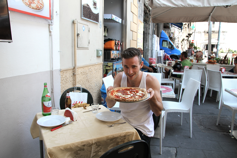 Pizza in Naples, Italy