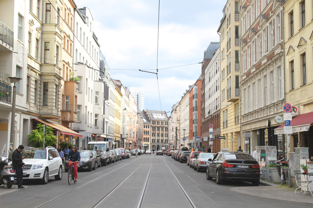 This is in the Mitte district. If you're looking for an area where you can drool over beautiful art, home decor and fashion that will cost you a month's rent, this is the place to be.