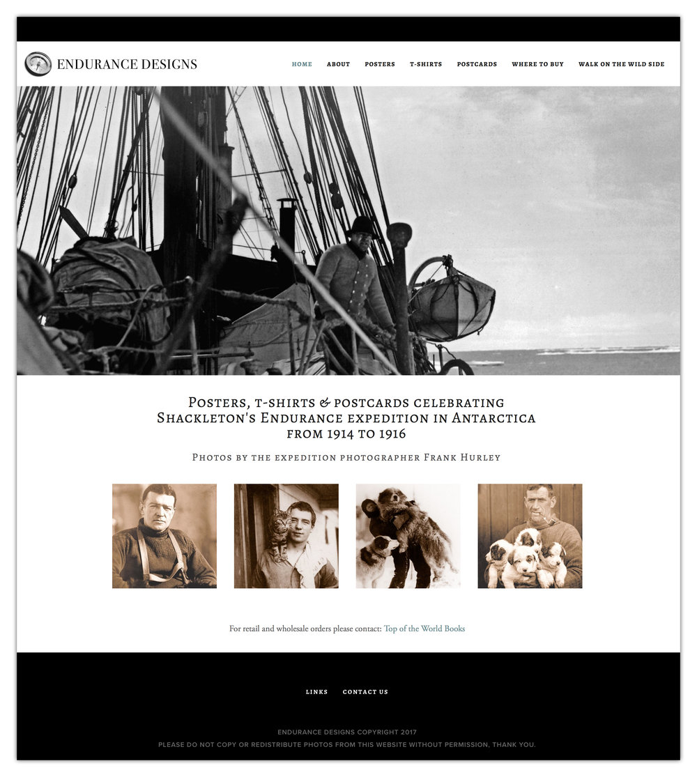 Website design for Endurance Designs, Canmore, Alberta.