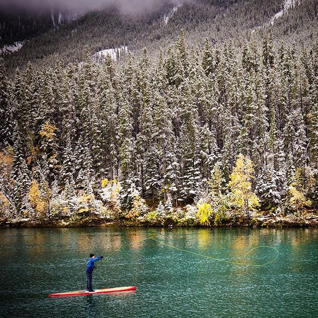 SUP & fly fishing ☃🐟🏄🏽🍂❄️