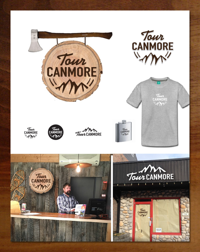 Tour Canmore logo and branding