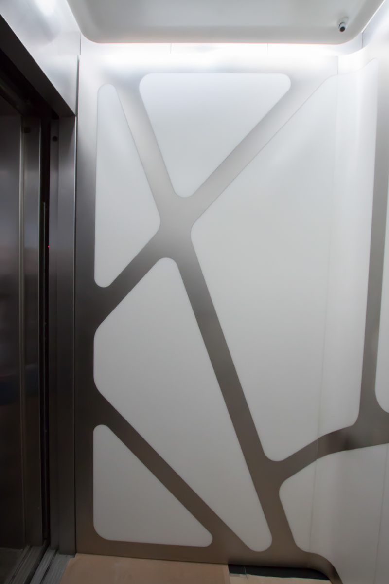 HL23 Thermoformed Corian Elevator Panels - New York City