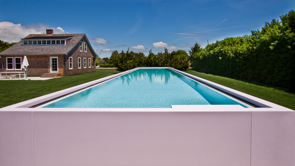 Swimming Pool.  Fabrication by Sterling Surfaces. Photo by Kyle Caldwell.