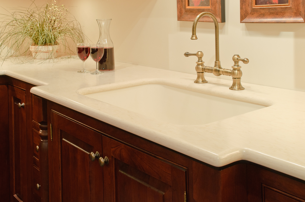 Residential countertops sterling surfaces solid for Perfect kitchen fabrication