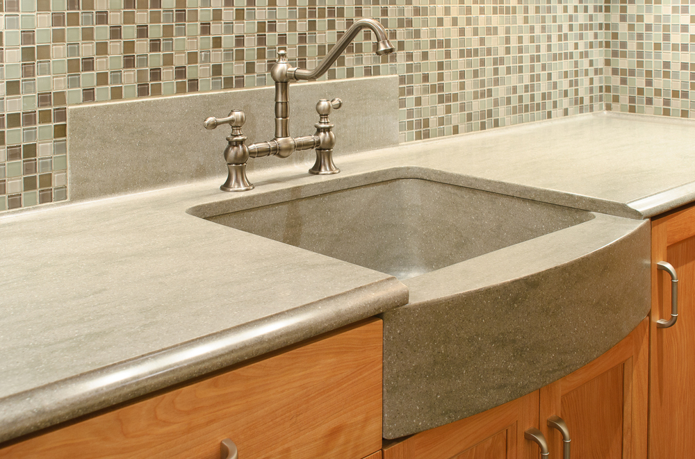 Residential countertops sterling surfaces solid for Solid surface counters