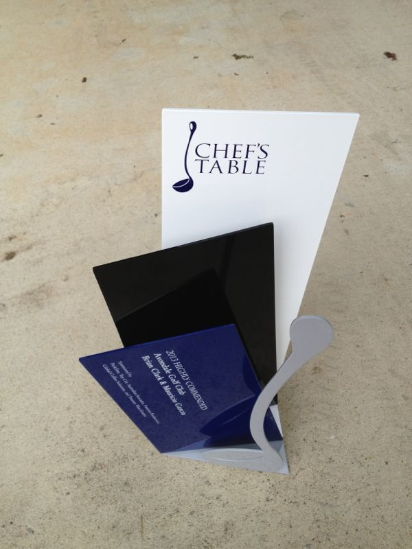 chefs table awards custom handcrafted trophy