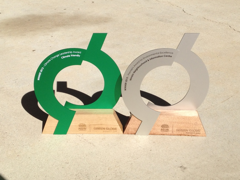 Green Globe Award Trophy - Eco Sustainable