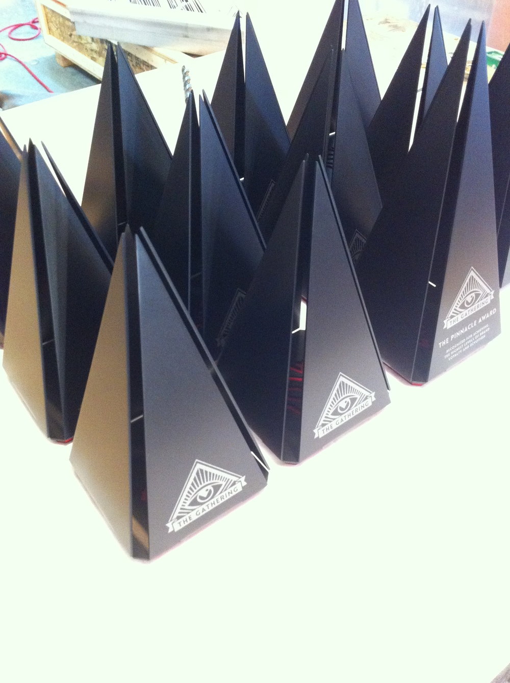 CULT AWARDS custom pyramid, pyramid trophy, pyramid award, modern pyramid, unique pyramid trophy, custom trophy design 2