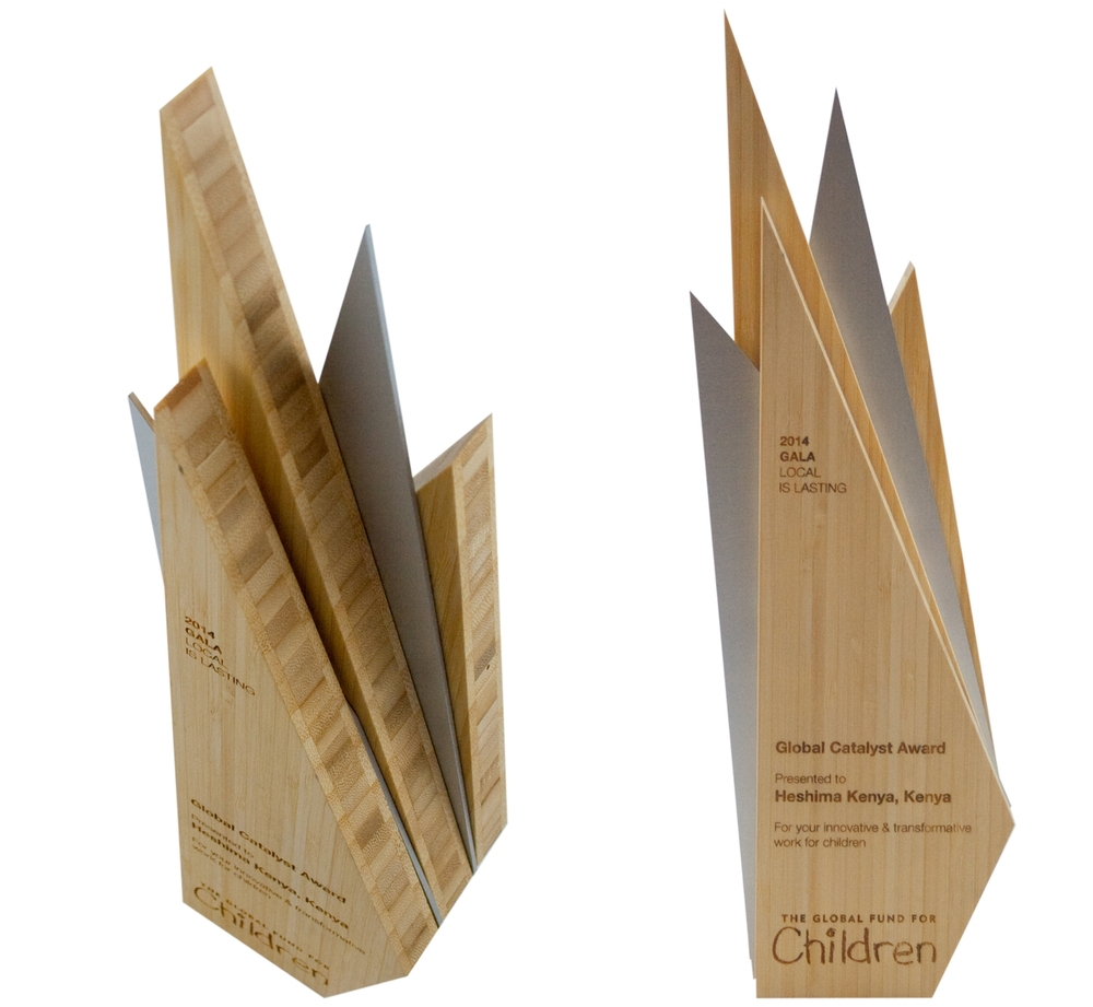 the global fund for children - eco-friendly bamboo custom awards