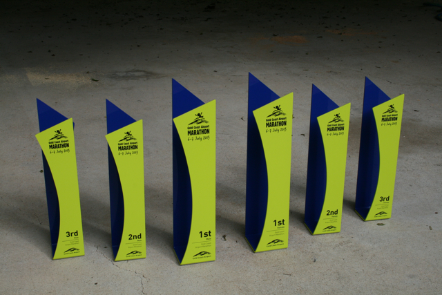 gold coast marathon custom sports trophies