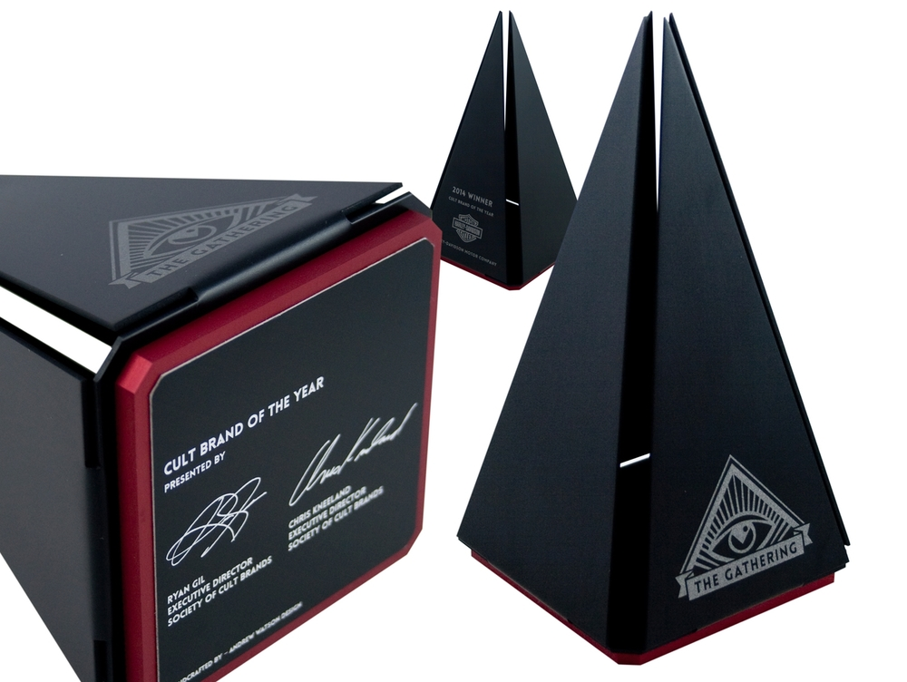 the gathering - custom pyramid award design
