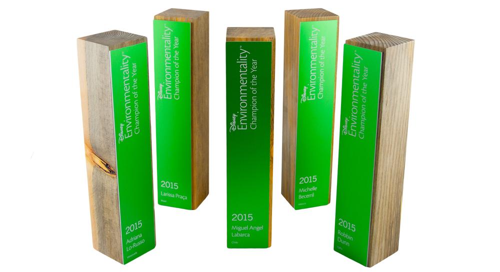 disney awards - unique eco-friendly award design using sustainable materials