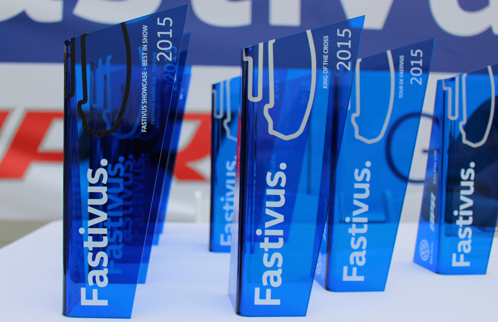fastivus showcase custom acrylic award & trophy design