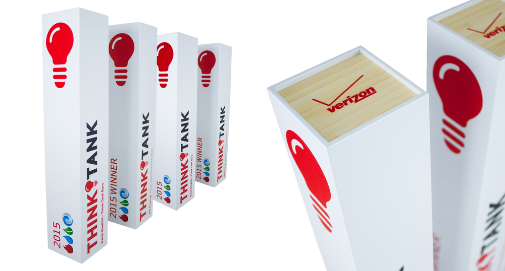 verizon 2015 thinktank - custom eco-friendly custom awards