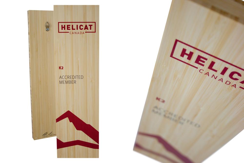 helicat canada - custom plaque
