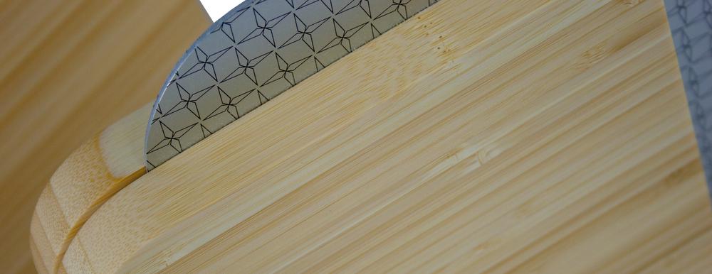 bamboo simple modern plaque eco green design