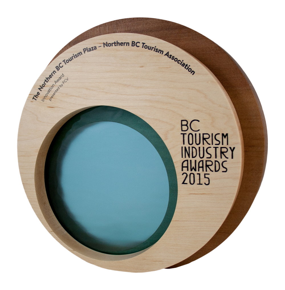 custom handcrafted sustainable, eco friendly trophies, awards, gifts and corporate recognition products for USA and Canada
