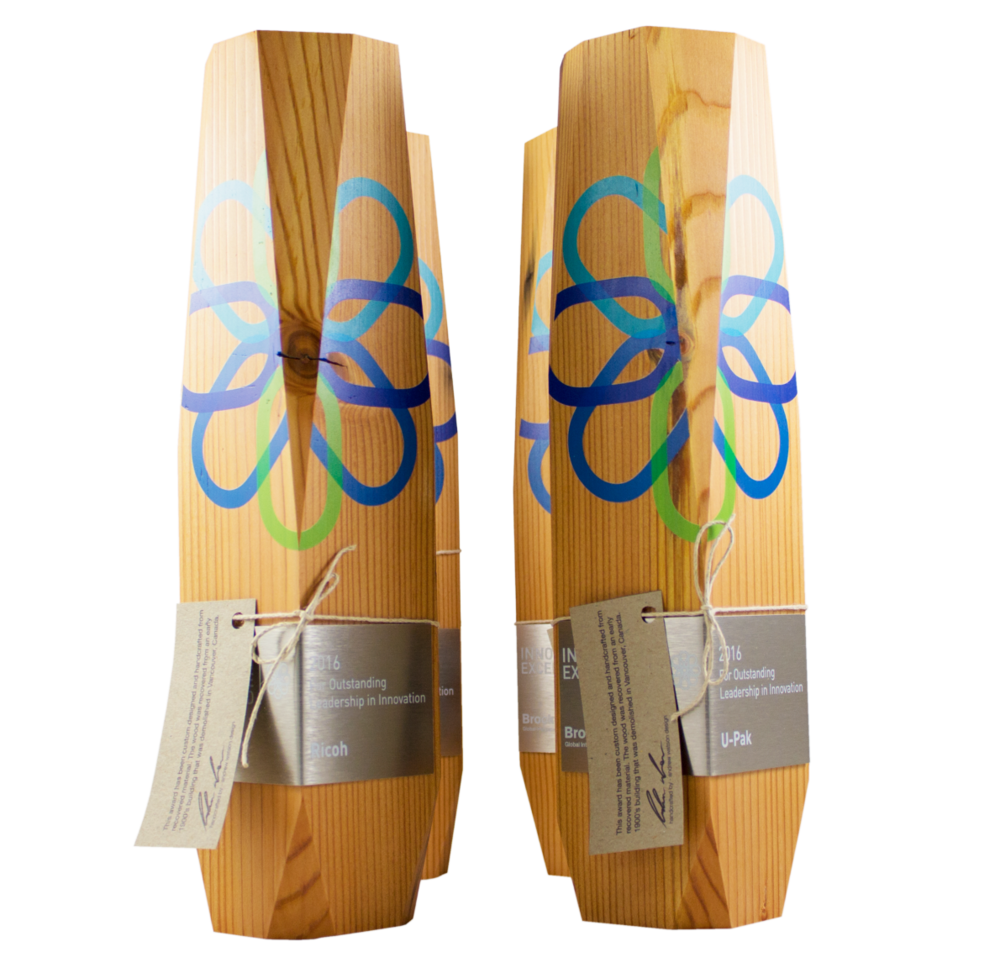 art abstract awards - recovered wood