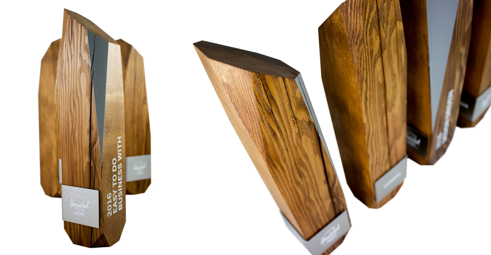 reclaimed wood awards -   herschel