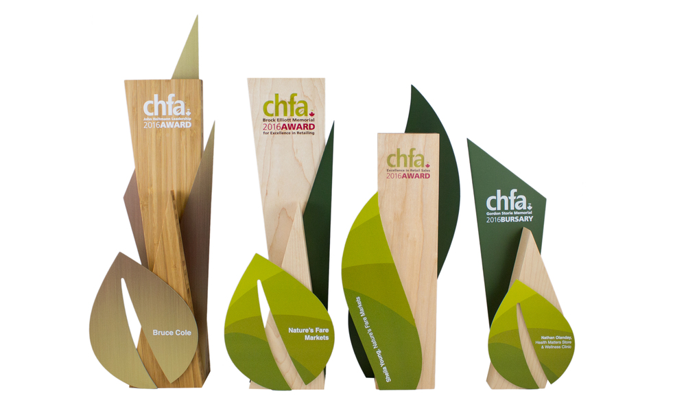 unique eco green awards trophies recovered wood