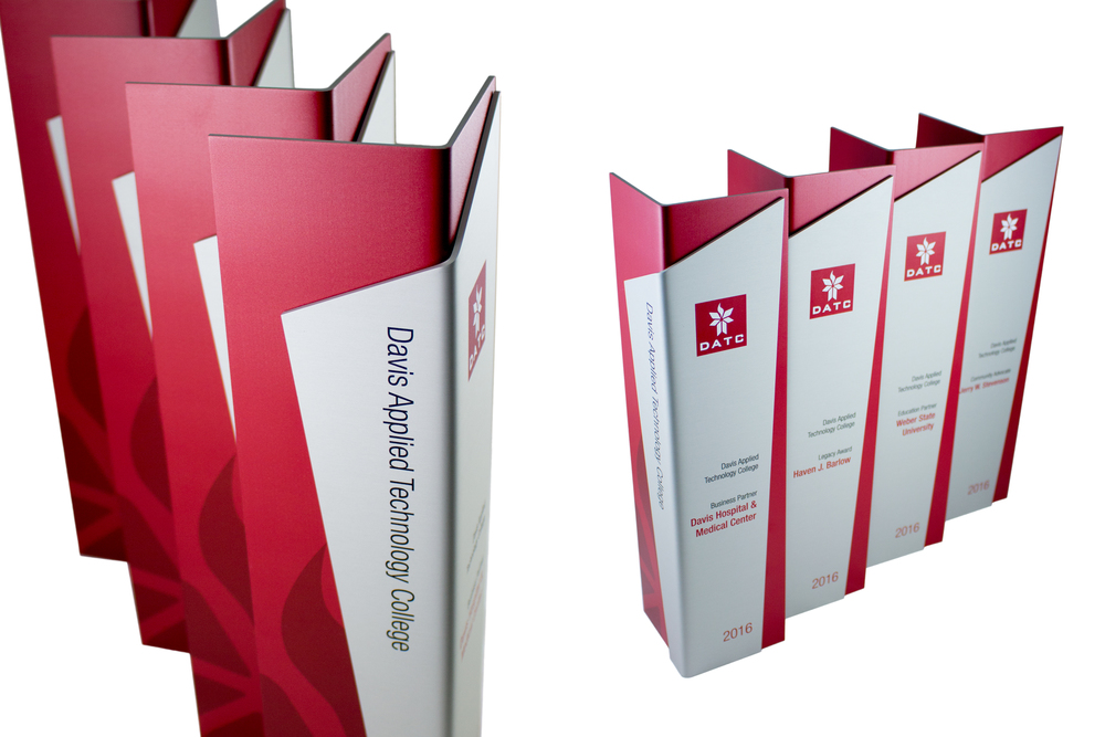 davis applied technology college - custom folded aluminum awards & trophies