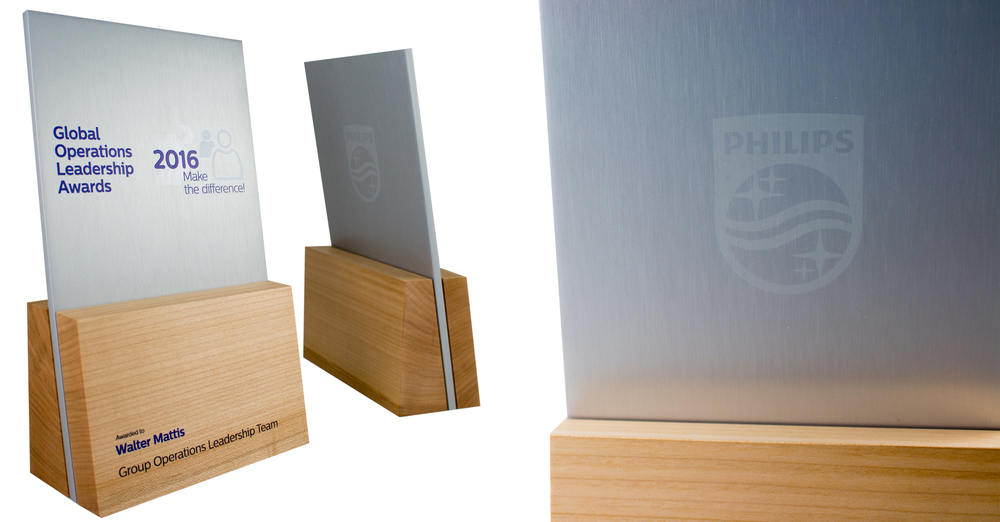 recovered wood trophies awards corporate recognition