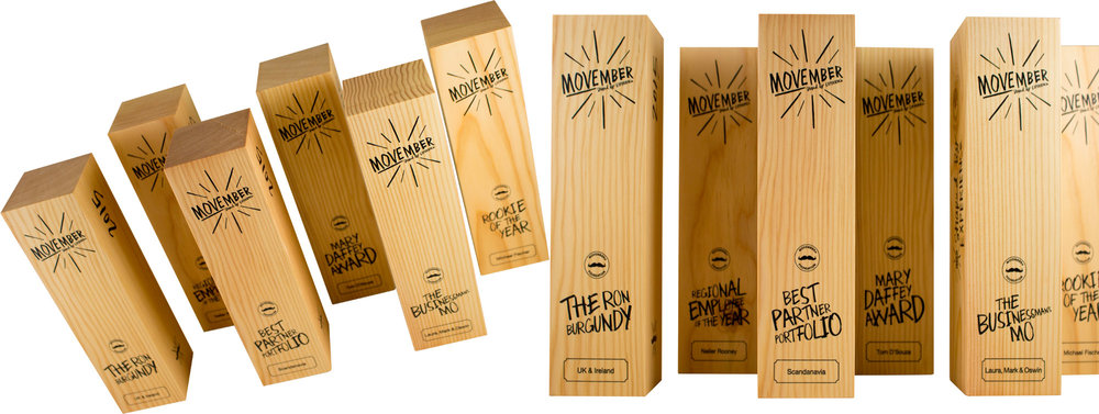 movember 2016 eco-friendly custom awards