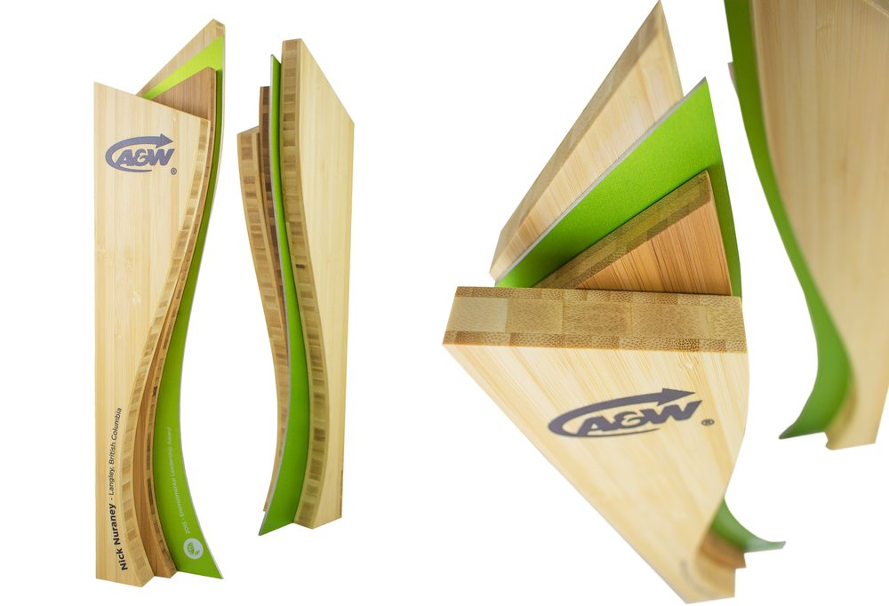 a&w custom eco awards - environmental achievement trophy