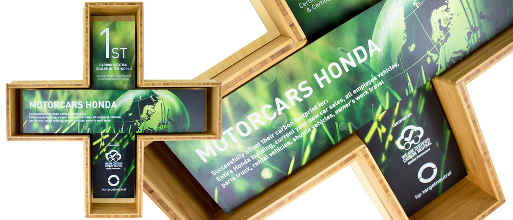 motorcars honda/bp - custom eco plaque