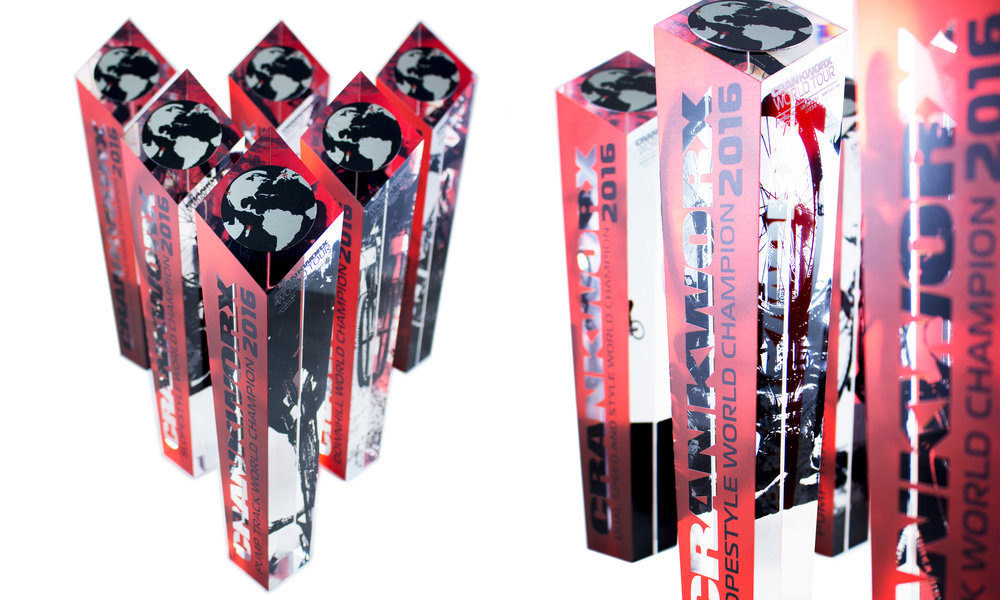 crankworx whistler custom trophies race winners