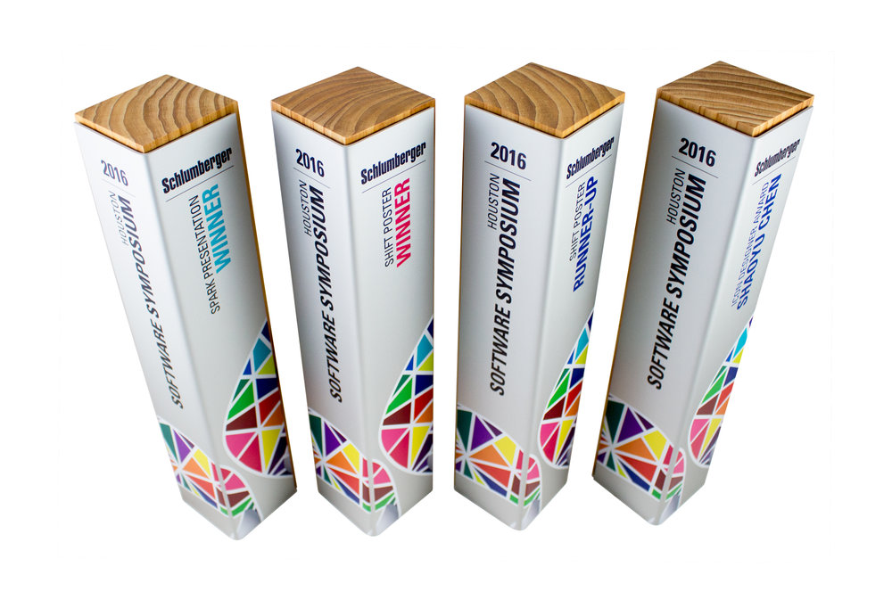 schlumberger custom eco friendly awards trophies