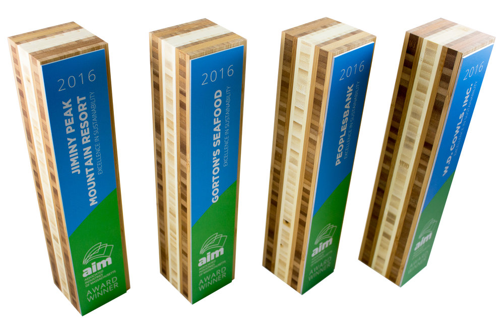 sustainable, eco friendly trophies, awards, gifts and corporate recognition products for USA and Canada